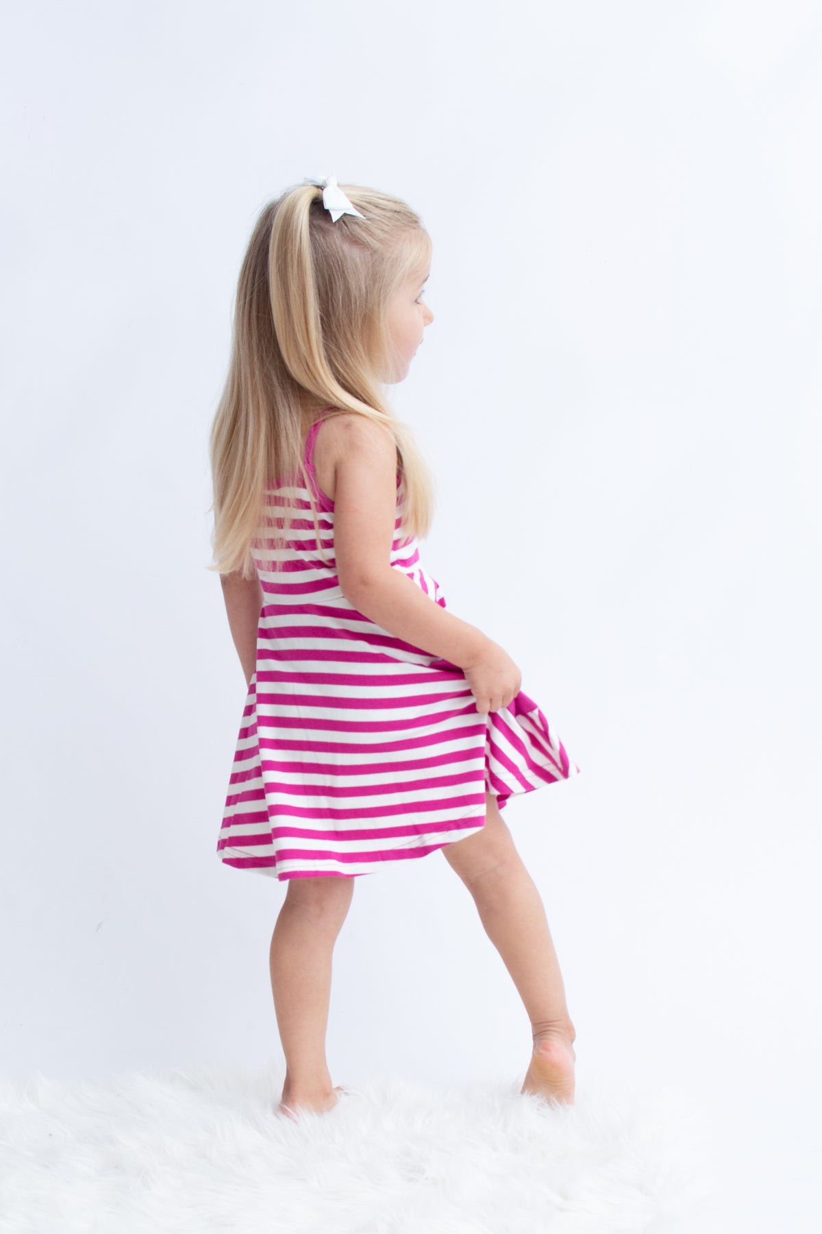 Kendal Dress - Razzle Stripe