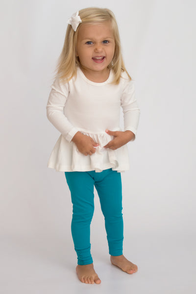 Sutton Button Leggings - Mermaid