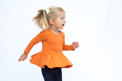 Peplum Long Sleeve - Pumpkin