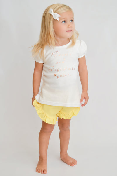 Poppy Shorts - Light Yellow