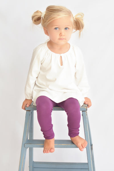 Sutton Button Leggings - Berry