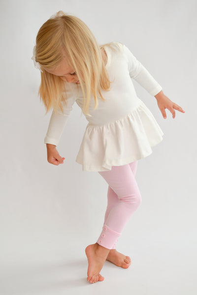 Sutton Button Leggings - Light Pink