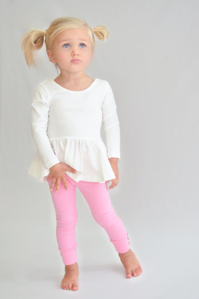 Sutton Button Leggings - Pink