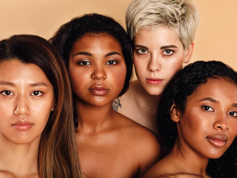 4 women of different races and ethnicities.