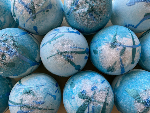 Azul Bath Bomb - Naked Bar Soap Co.