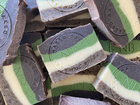Cocoa Coffee Mint Artisan Soap - Naked Bar Soap Co