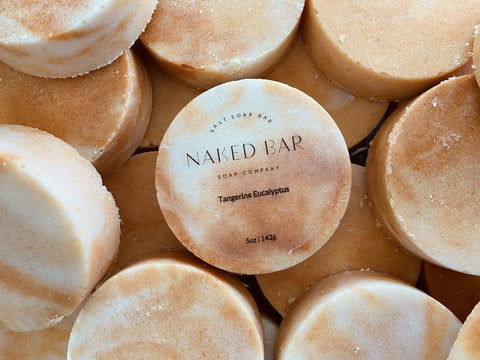 Tangerine Eucalyptus Salt Bar - Naked Bar Soap Co
