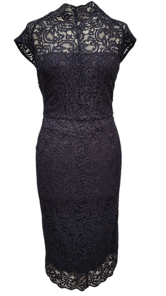 Phase Eight Becky Lace navy blue dress Size 10