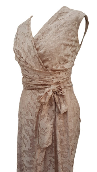 Phase Eight Dana Lace dress in blush Size 10