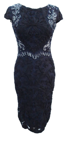 Daphne tapework navy black dress by Phase Eight Size 10