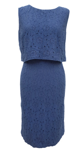 Phase Eight Darcey Double Layer dress in blue Size 12