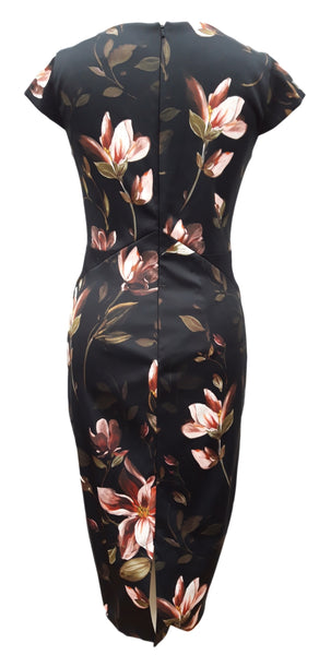 Kailey black floral dress by Phase Eight Size 10 rrp £130