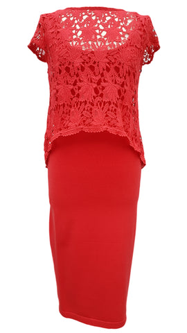 Phase Eight Lexus Lace Knit dress Size 10 RRP £110