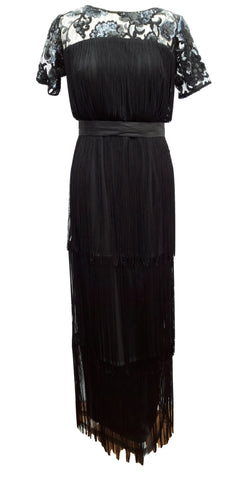 Phase Eight Malene Fringe Maxi Dress Size 10 Worn once