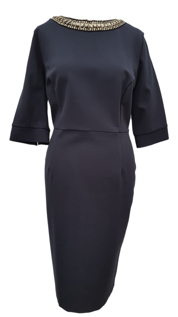 Phase Eight Phoebe Jewelled navy dress Size 14 Worn once RRP £130!!