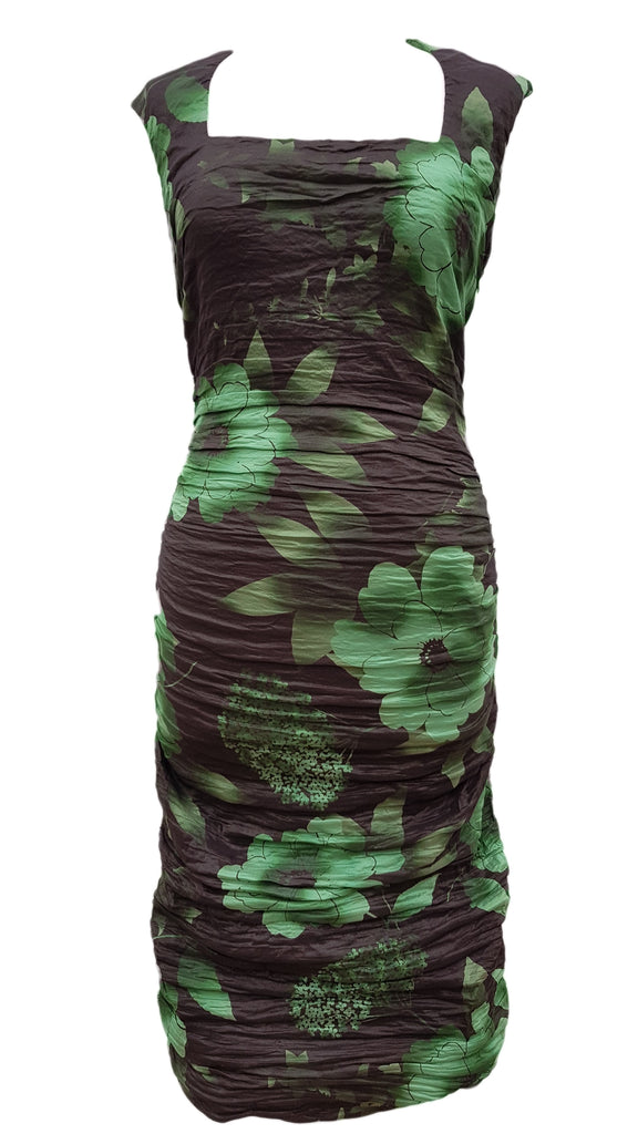 386893beced2 Phase Eight Teresa Crush dress black and green Size 8 – Carobethany