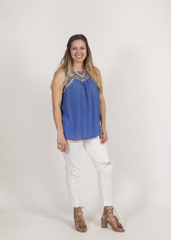 Treva embroidered top