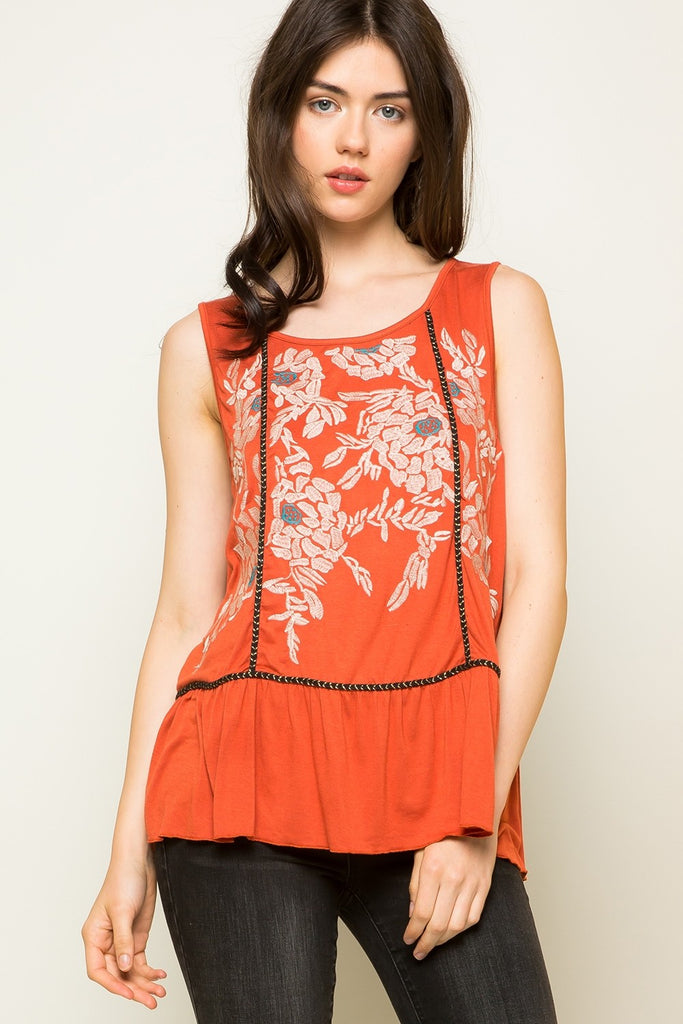 Johanna Embroidered top