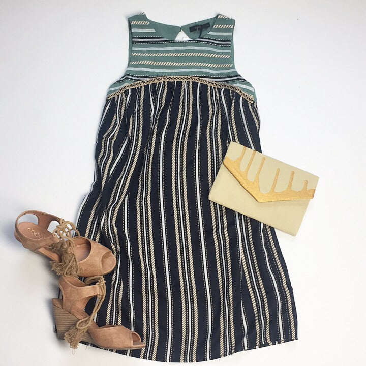 Dionne stripe dress
