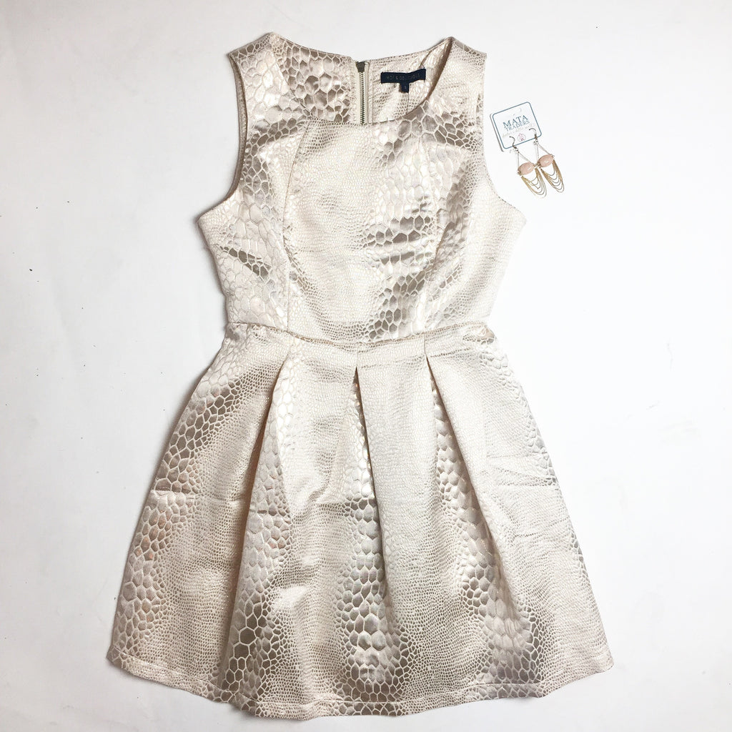 Metallic snake print dress