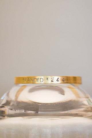 Tiny Brass Branded Cuff