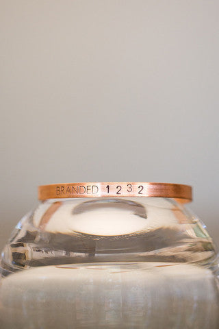 Tiny Branded Copper Cuff