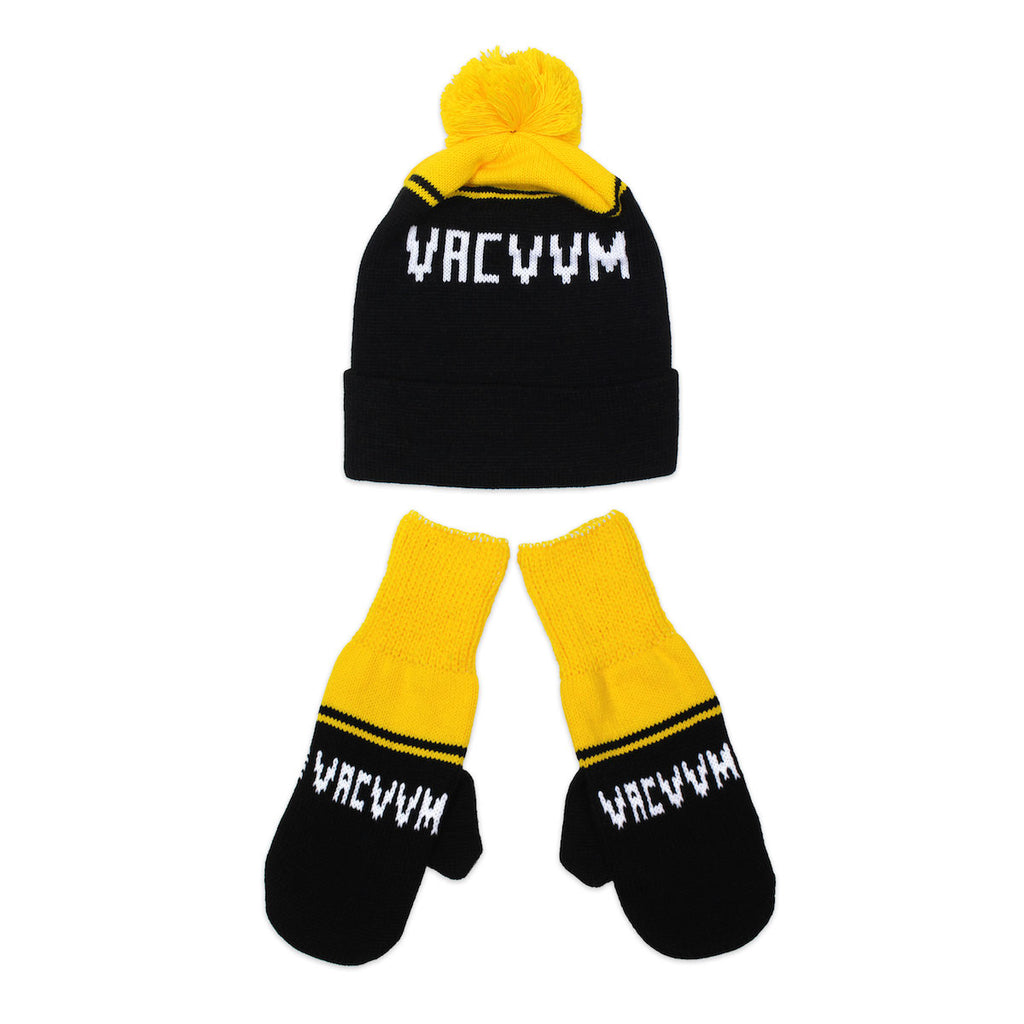 VCVM129: Black/Yellow VACVVM Knit Winter Set
