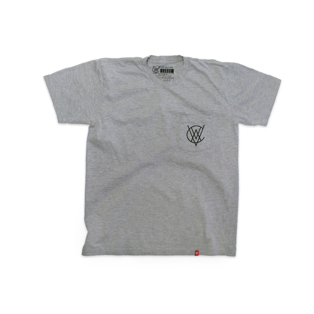 VCVM127B: VACVVM Logo Pocket Tee (Grey)