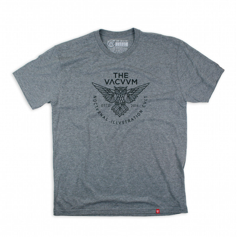 VCVM094B: Owl Logomark Shirt by Brian Steely (Heather Grey)