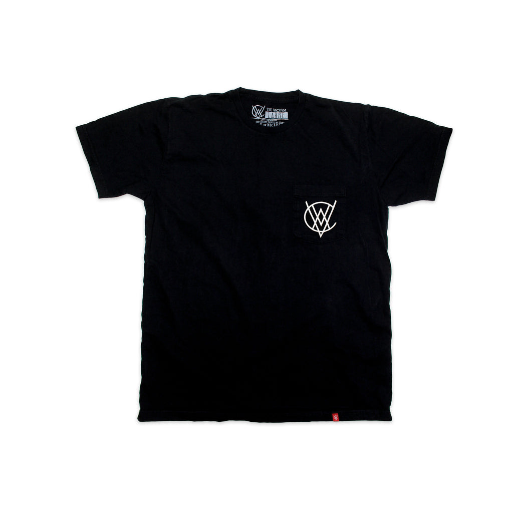VCVM127A: VACVVM Logo Pocket Tee (Black)