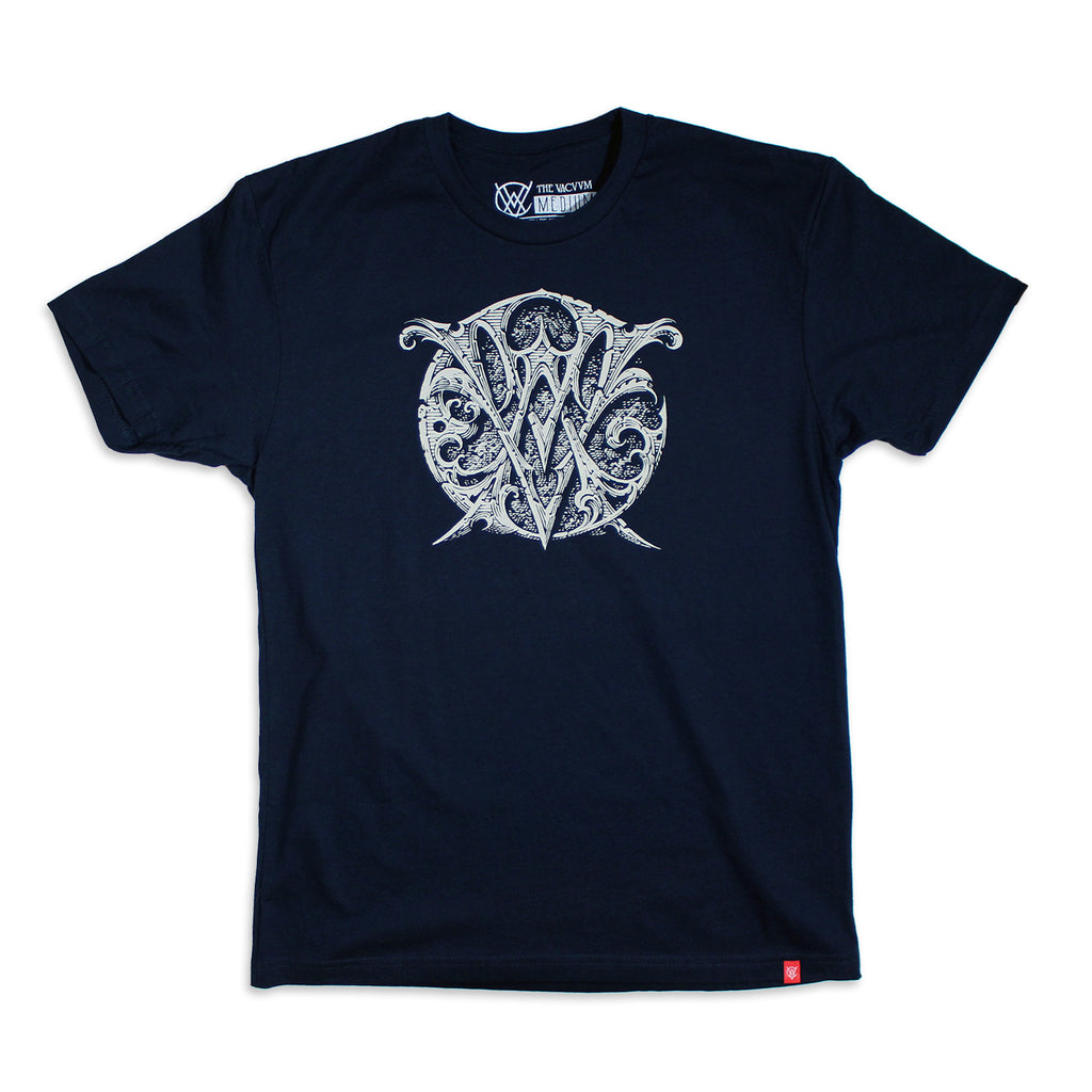 VCVM059B: Logo Crest Shirt by Aaron Horkey (Navy)
