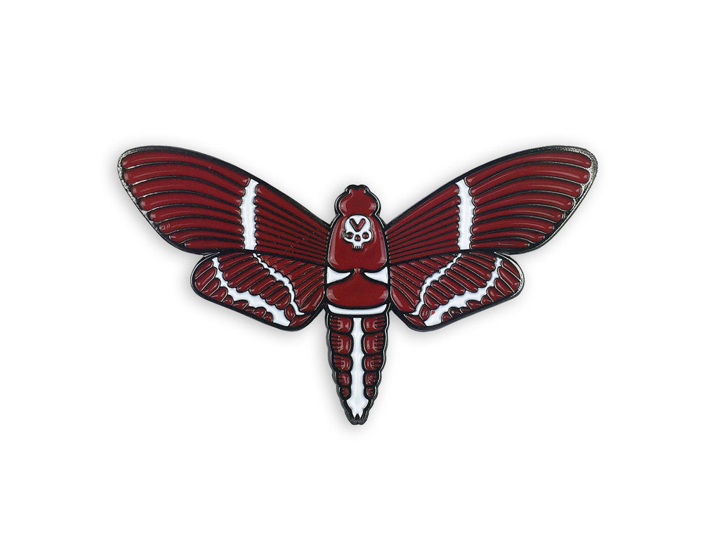 VCVM095: Moth Logomark Lapel Pin by Brian Steely (Red)