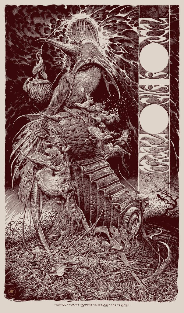VCVM152: Neurosis / Converge Tour Poster by Aaron Horkey (Birds in a Row Edition)