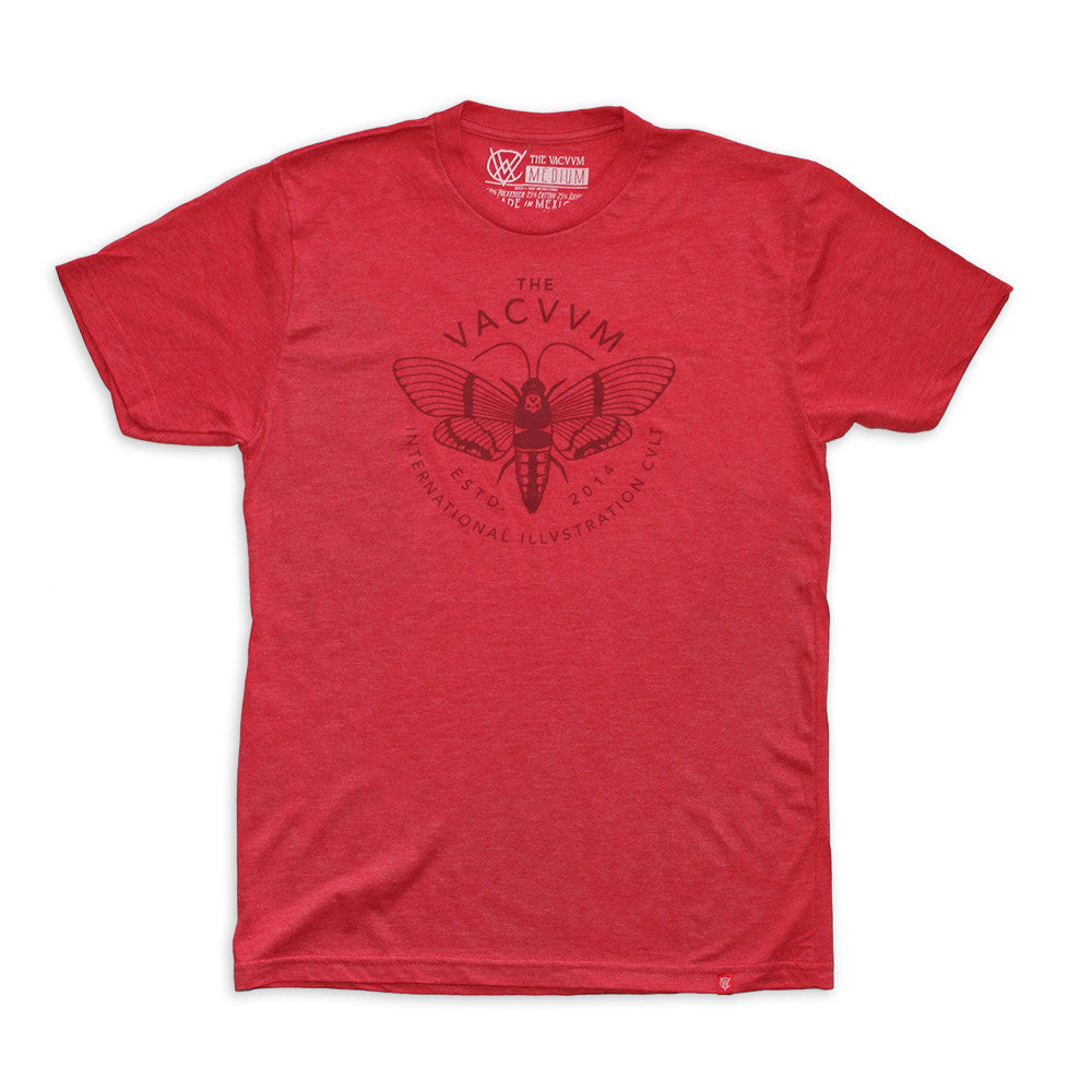VCVM041C: Moth Logomark Shirt by Brian Steely (Red)