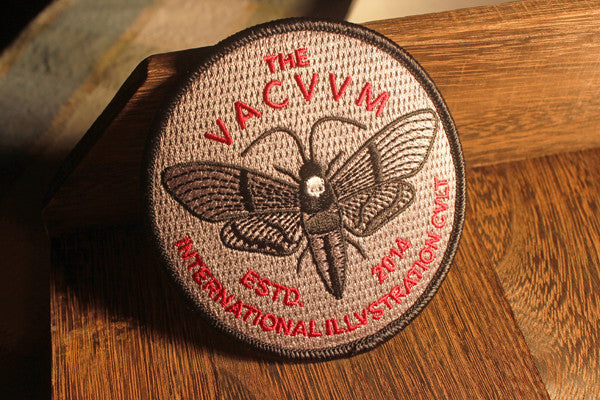 VCVM039: Moth Emblem Embroidered Patch