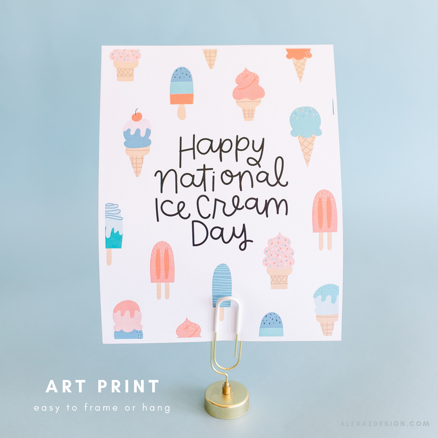 National Ice Cream Day Printables