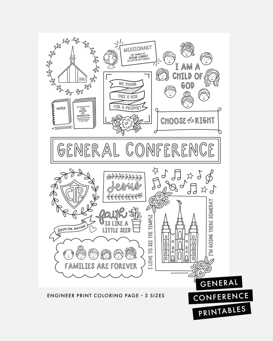 general conference printables