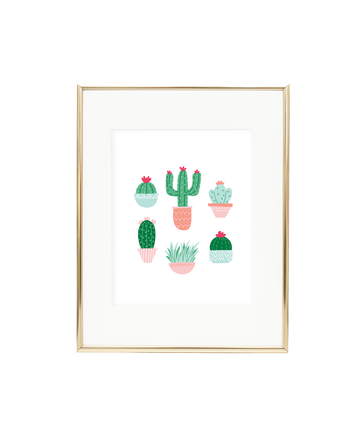 Colorful Cactus Art Print