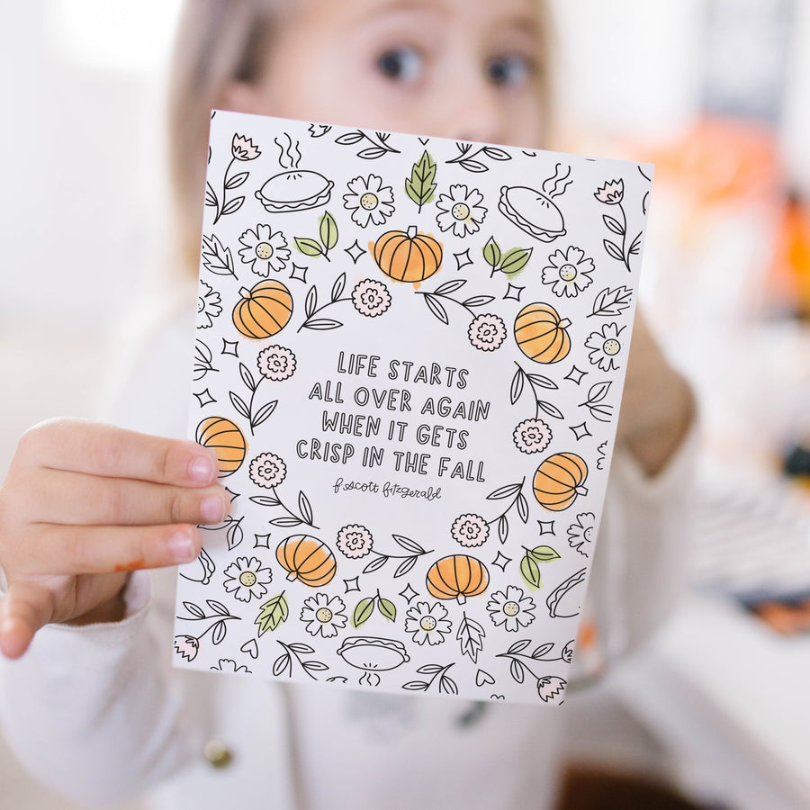 Hello Fall Coloring Pages & Printables