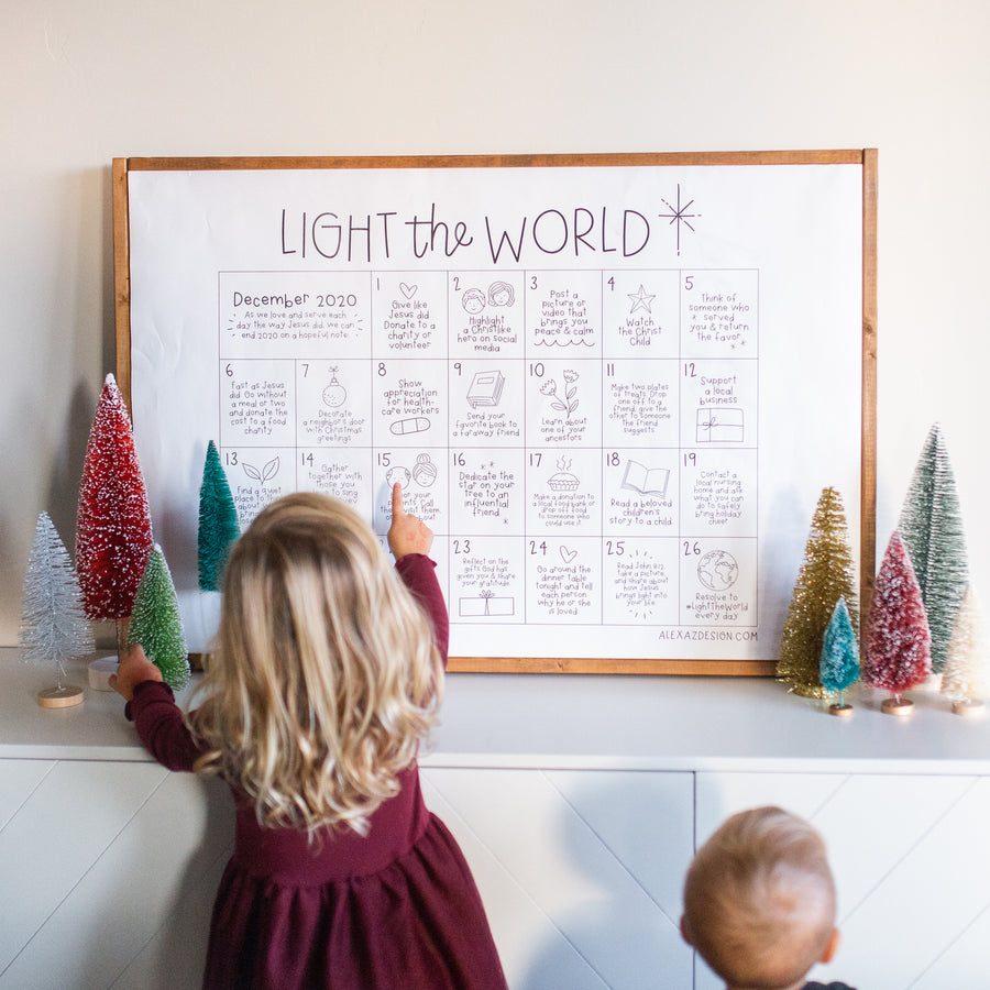 2020 Light the World Free Printable Coloring Calendar