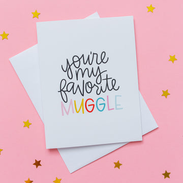 Harry Potter Card - You're My Favorite Muggle