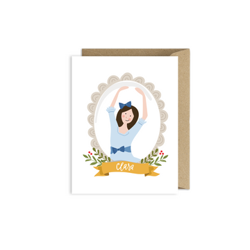 Nutcracker Clara Christmas Card