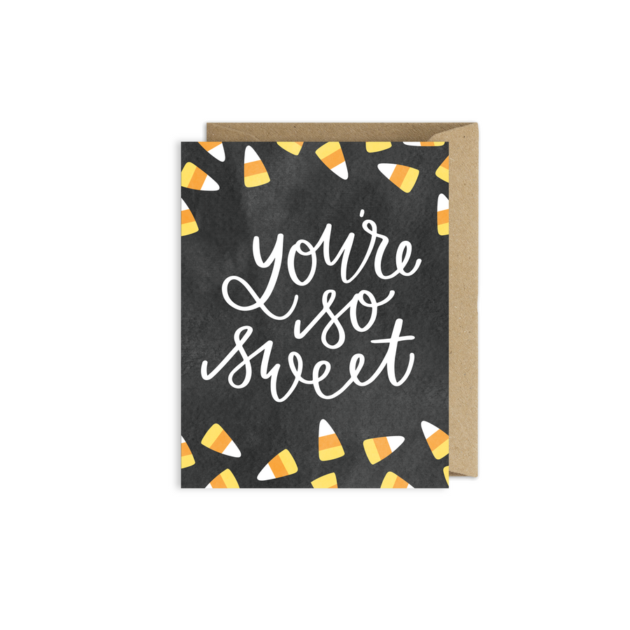 Halloween candy corn card