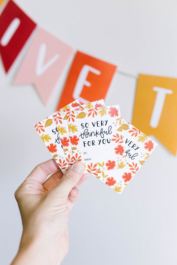 Thankful for You Printable Tags