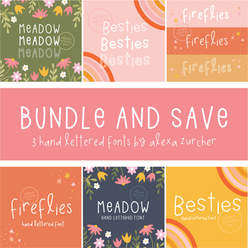 Alexa Hand Lettered Font Bundle