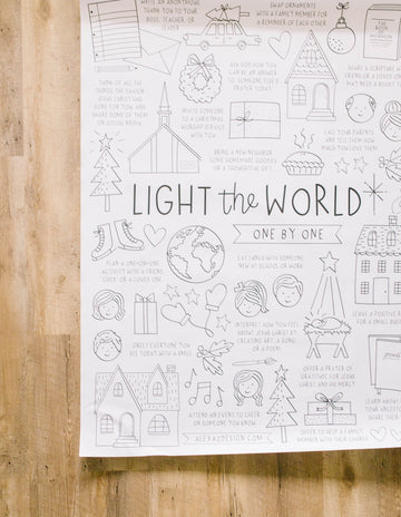 Light the World Free Printable Coloring Page