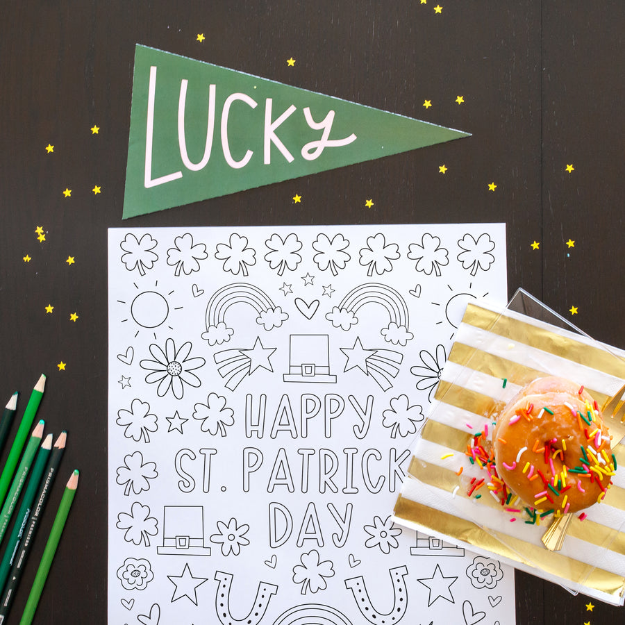 St. Patrick's Day Coloring Pages & Poster