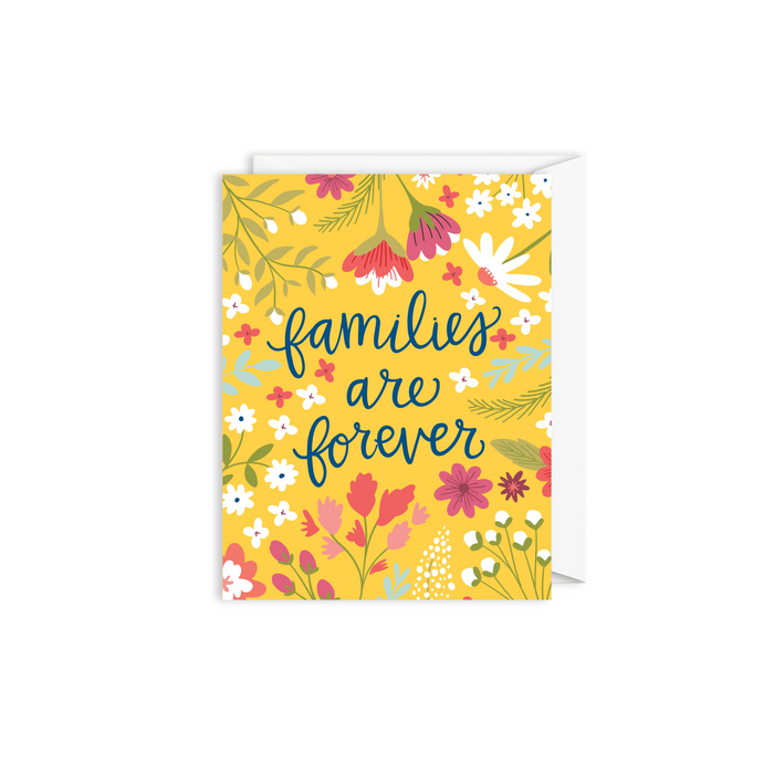 floral families are forever card