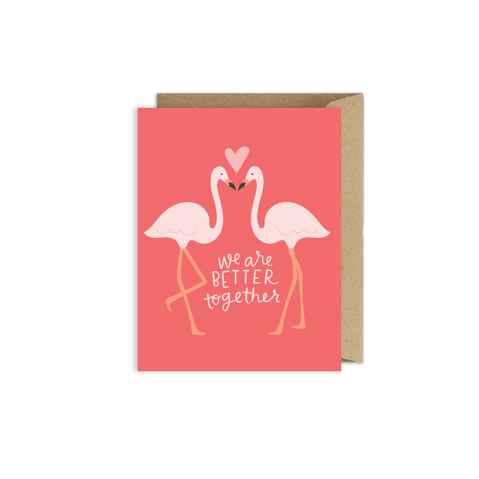 Better Together Flamingo Card