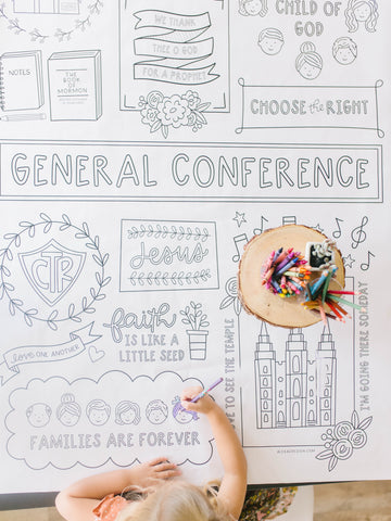 General Conference Coloring Page Printables